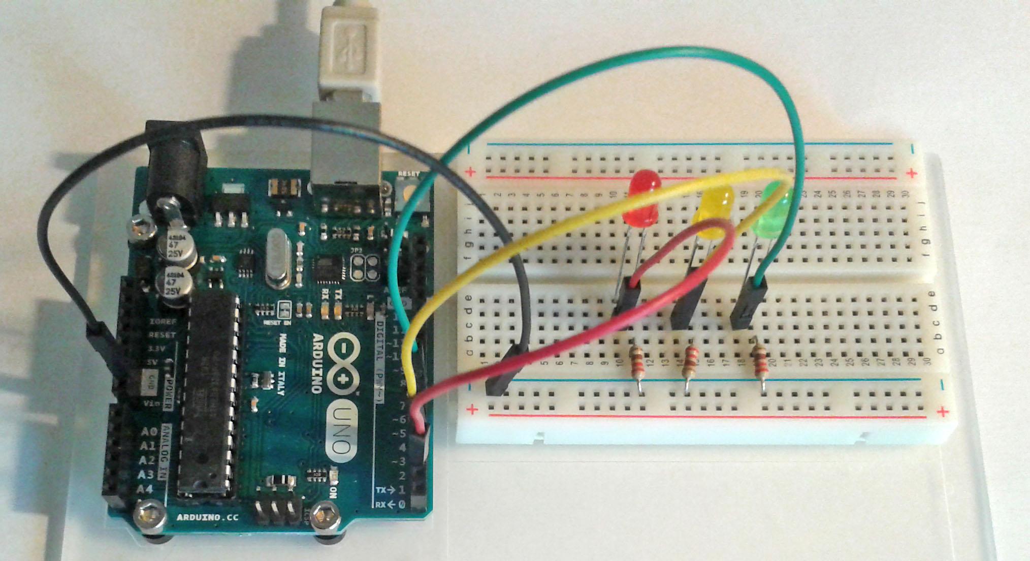 Resultado de imagen de arduino proyectos ejemplos semaforo